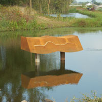 Oergrond 2013 sculpture for the WATERBOARD